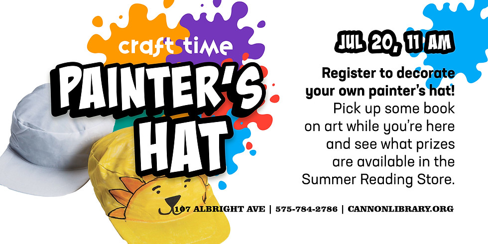 Craft Time: Painter's Hat