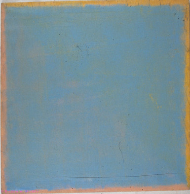 Pink, Yellow, Blue - 1973, oil on linen,
