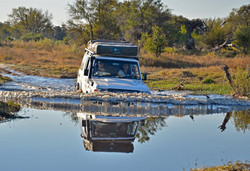 Khwai river crossing, Botswana