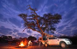 Savuti Campfire at Dusk
