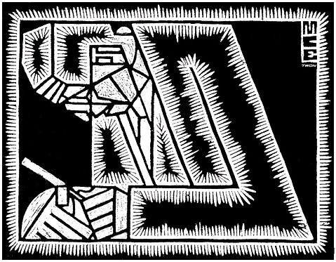 Escher's Father with Magnifying Glass