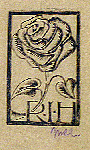 Bookplate R.I.H. (Roosje Ingen Housz)