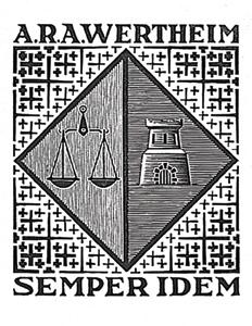 Bookplate A.R.A. Wertheim