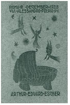 Birth Announcement Card of Arthur Escher