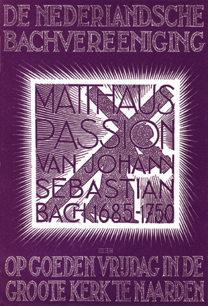 Program for St. Matthew Passion