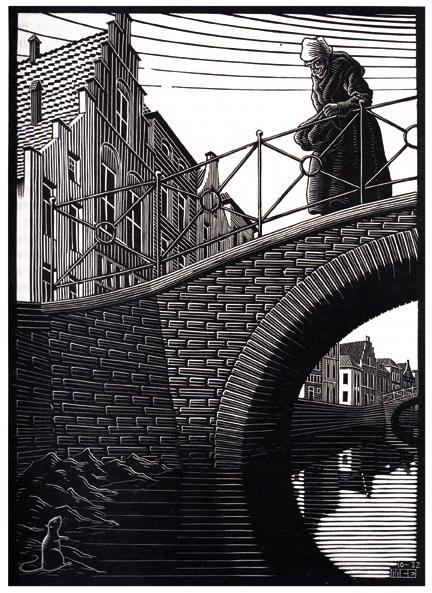 Illustration (page 19) (aka Woman on Bridge)