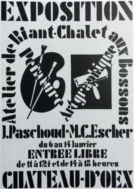 Poster for Exhibition John Paschoud and M.C. Escher