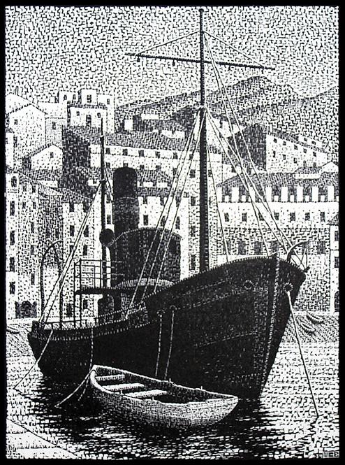 Tugboat, Old Harbor of Bastia, Corsica