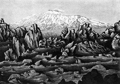 (Old Lava from) Mount Etna near Bronte, Sicily