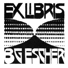 Bookplate B.G. Escher