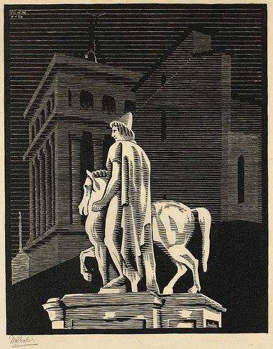 Nocturnal Rome: the 'Dioscuro' Pollux (Piazza del Campidoglio)