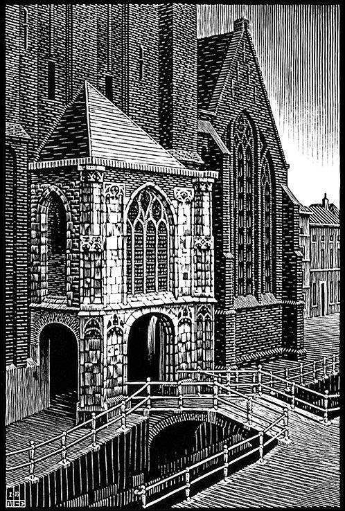 Delft: Enterance to the Oude Kirk