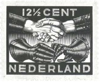 Design for Dutch Peace postage stamp of 12 1/2 cents