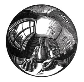 Self-Portrait in Spherical Mirror