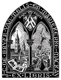 Bookplate J.C. de Bruyn van Melis - en Mariekere-Mackay
