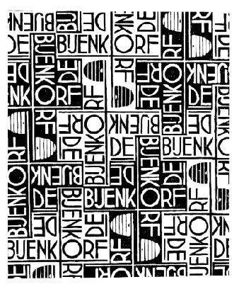 Design for wrapping paper: De Bijenkorf