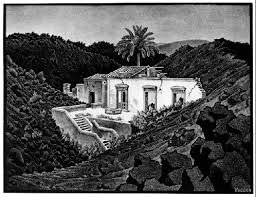 House in the Lava near Nuziata, Sicily