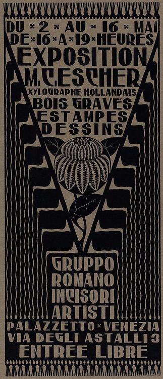 Announcement Card for Exhibition M.C. Escher
