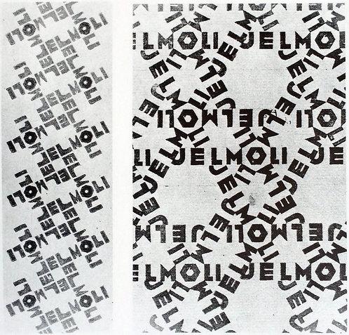 Design for wrapping paper: Jelmoli (I) ochre