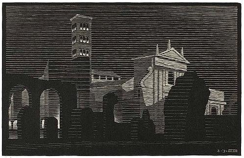 Nocturnal Rome: Santa Francesca Romana (Seen from the Basilica of Constantine)