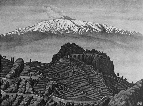 Castel Mola and Mt. Etna, Sicily