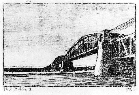 Railway bridge Across the Rhine at Osterbeek