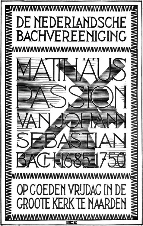 Study for cover of programme St Matthew Passion