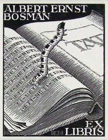 Bookplate Albert Ernst Bosman