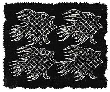 Plane-filling Motif with Fish and Bird