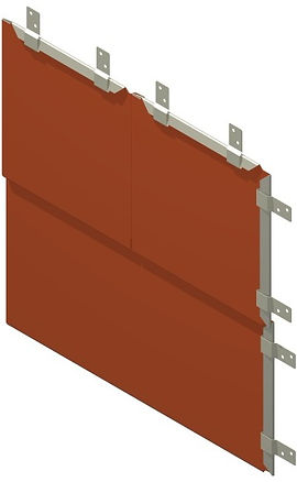 The Americlad AC-5000 Flat Lock Panel is a light gage back ventilated wall panel system that mimics the look of traditional siding but utilizes stong durable metal.