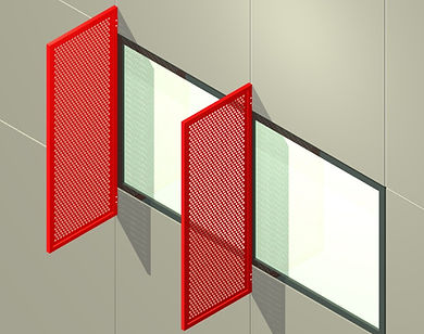 "AC-205 1 3/8"" Vertical Sunshade System"