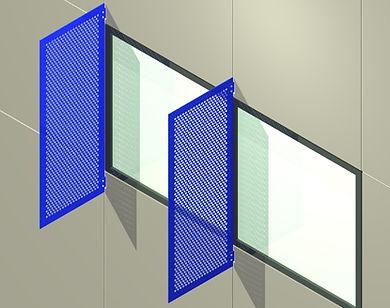AC-200 Vertical Plate Sunshade System