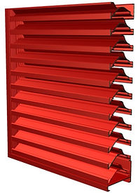 "Americlad AC-97SC 7"" wind driven rain louver with channel frame"