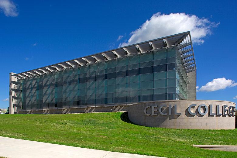 Cecil College, Cantilevered Sunshades, Horizontal sunshades, Vertical sunshades,