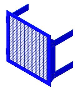 Americad AC-710S Screen Wall with a Woven wire and Welded Mesh Screen
