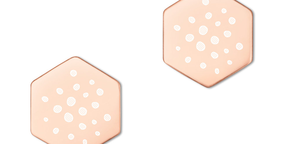 Sterling Silver Hexagon Stud Earrings - polkadots