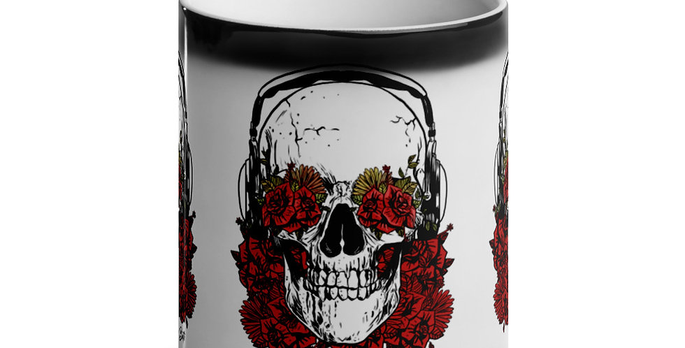 Glossy Magic Mug - Rose Scull