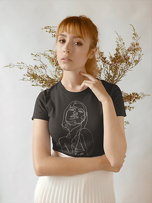 t-shirt-mockup-of-a-serious-woman-against-dried-plants-18382.png