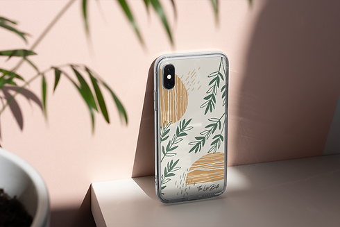 mockup-of-a-clear-phone-case-under-a-ray