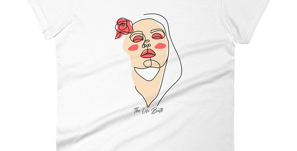 Women's short sleeve t-shirt - abstract face