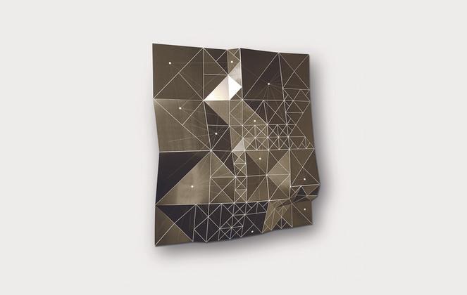 Rhizome inBronze/White Acrylic Laminate, Polyethylene Fiber, Plexiglas   48 x 48 in
