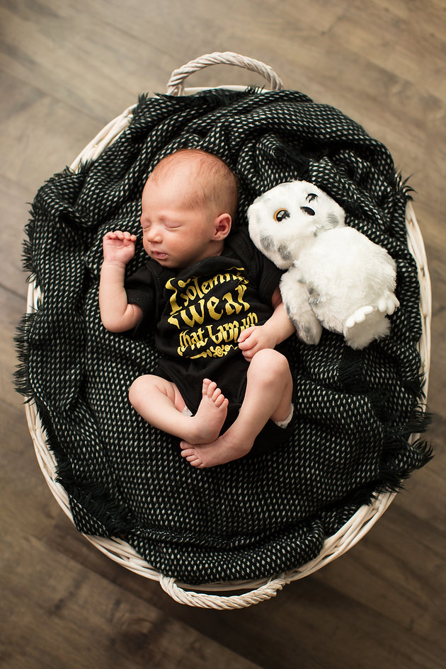 Youngest Harry Potter Fan | Seattle Newborn Photography