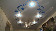 Резной натяжной потолок Apply на кухне