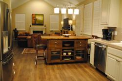 Kitchen island family room