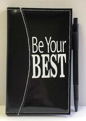"""Be Your BEST"" Leather Notebook"