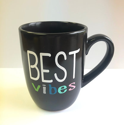 "Black ""BEST Vibes"" Mug"