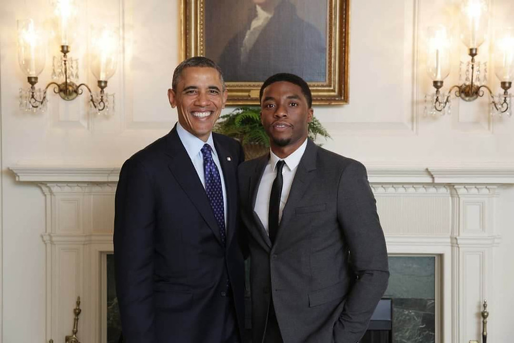 Chadwik Boseman Black Panther Marvel Obama