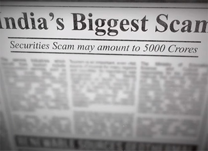 harshad mehta newspaper scam 1992