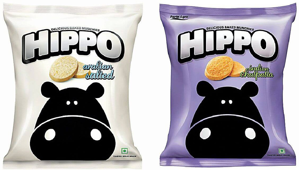 Hippo chips toasties by Parle purple variant
