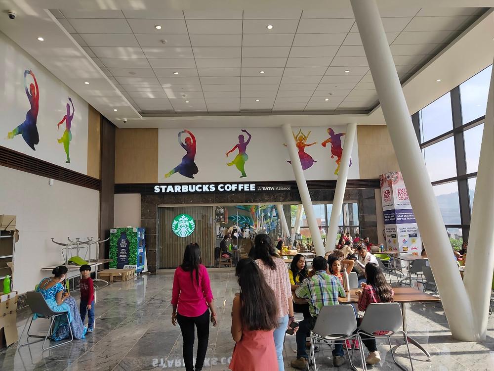 statue of unity Starbucks Sou